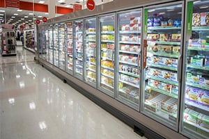 refrig cases grocery